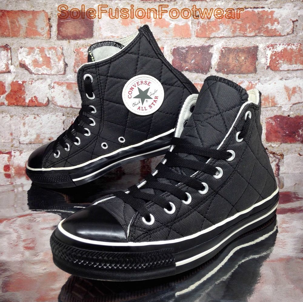 0bb8e49bb62c Converse Mens All Star Quilted Shoes Black sz 7 VTG Chuck Taylor Womens US  9 40