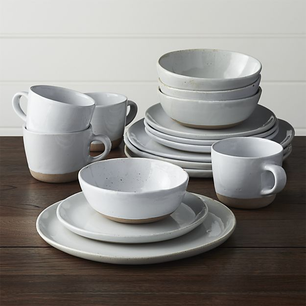 Barrels · Welcome White 16-Piece Dinnerware Set | Crate and Barrel & Welcome 16-Piece Dinnerware Set | Dinnerware Crates and Barrels