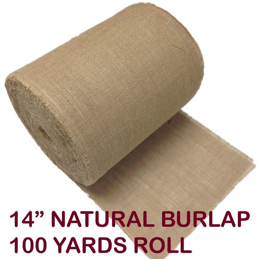 "Upholstery Natural Jute Burlap Fabric 40/""w 100 yards"