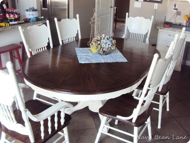 Dining Table Before Amp After At Navy Bean Lane Navy Bean