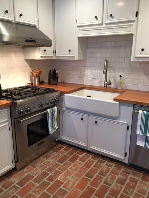 This Brick Kitchen Floor Is The Wrights Ferry Tiles With Wood Ash
