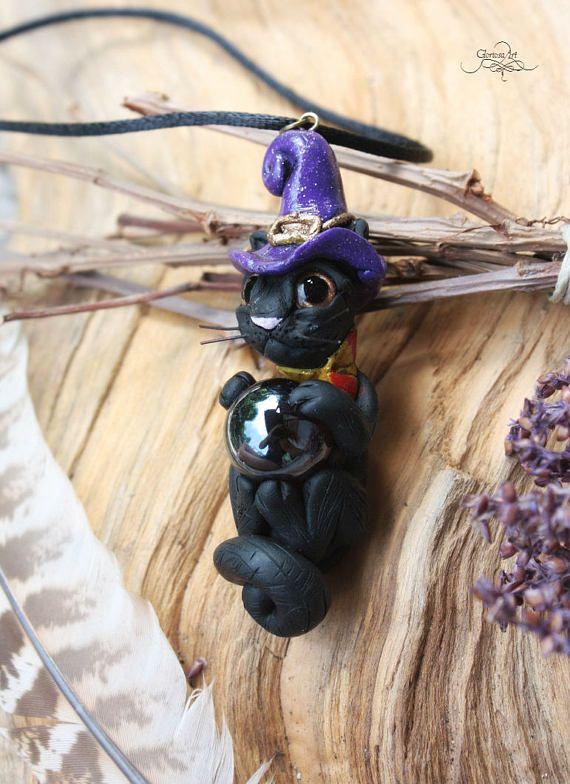 Witch Cat Pendant