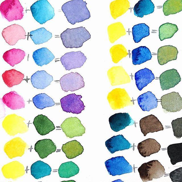 Color Mixing Watercolor Leningrad White Nights Vchera Zhutko Bolel