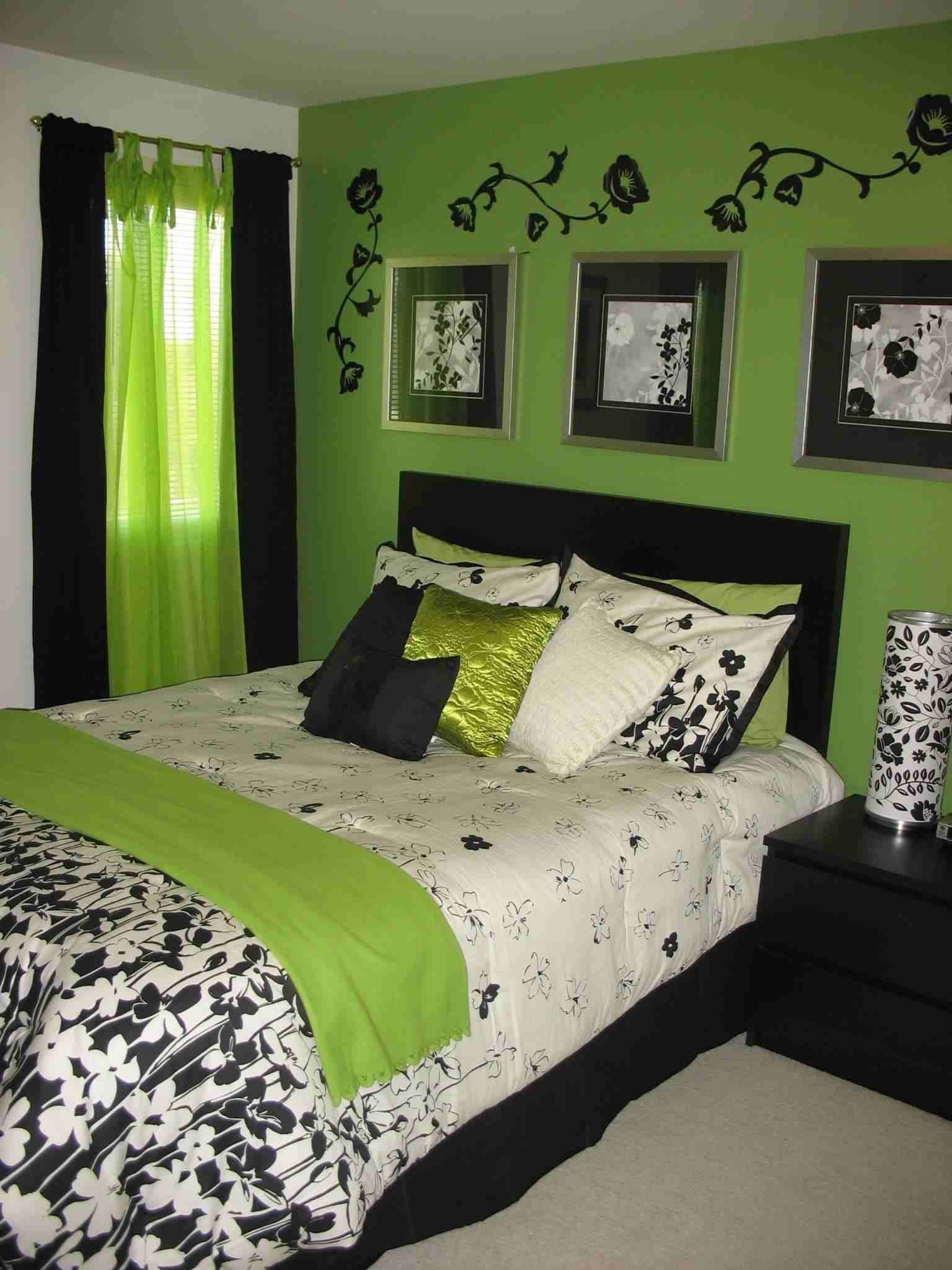 Walls Gray Bedroom Green White Polka Bed Sheet Plus Blanket Having Circles Placed On The Light Blue And Decorating Ideas