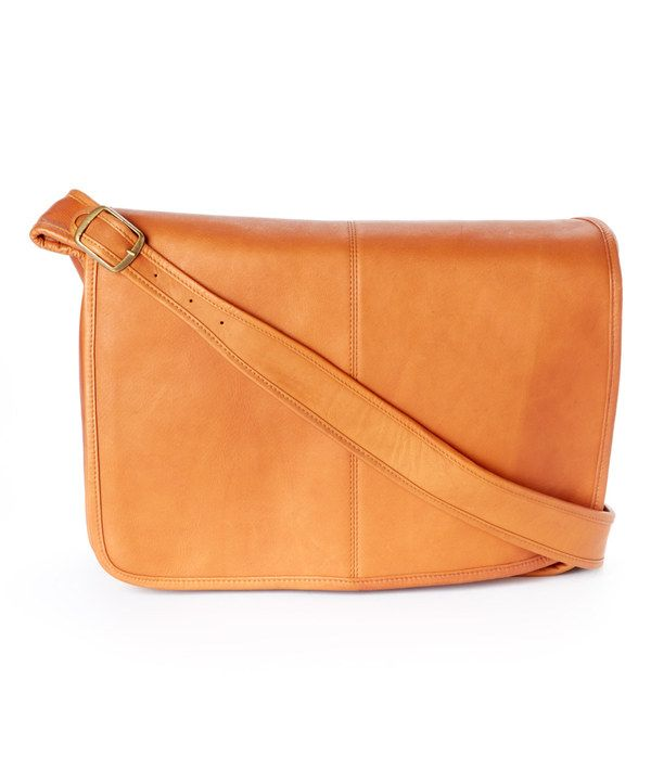 Look at this Tan Classic Messenger Bag on #zulily today!