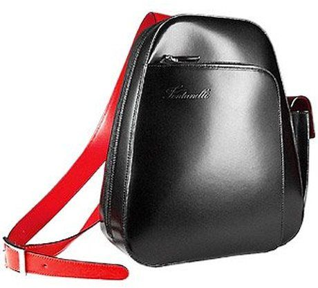 Women S Red Single Strap Italian Leather Backpack I Want