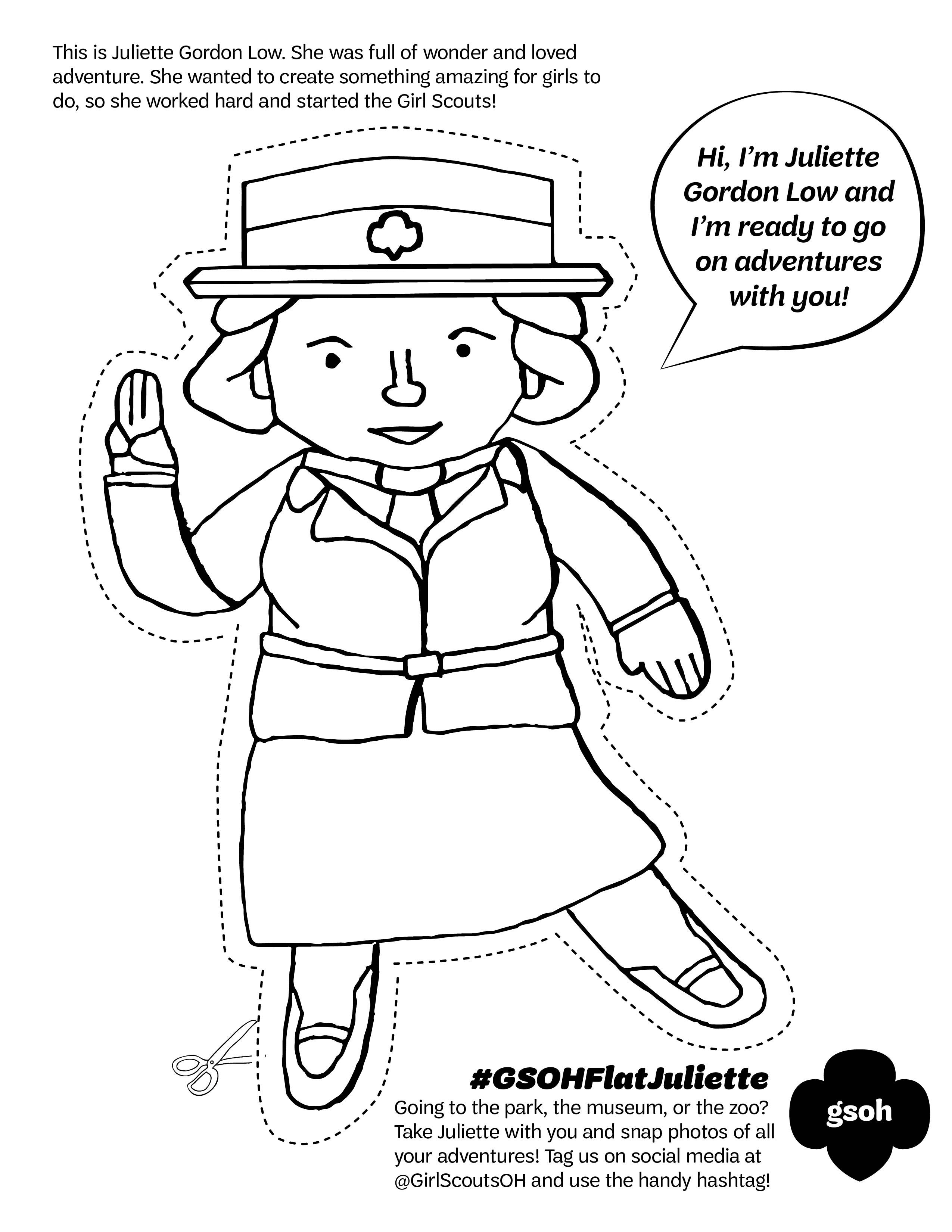 We Love This Flat Juliette Coloring Page From Gs Of Ohio