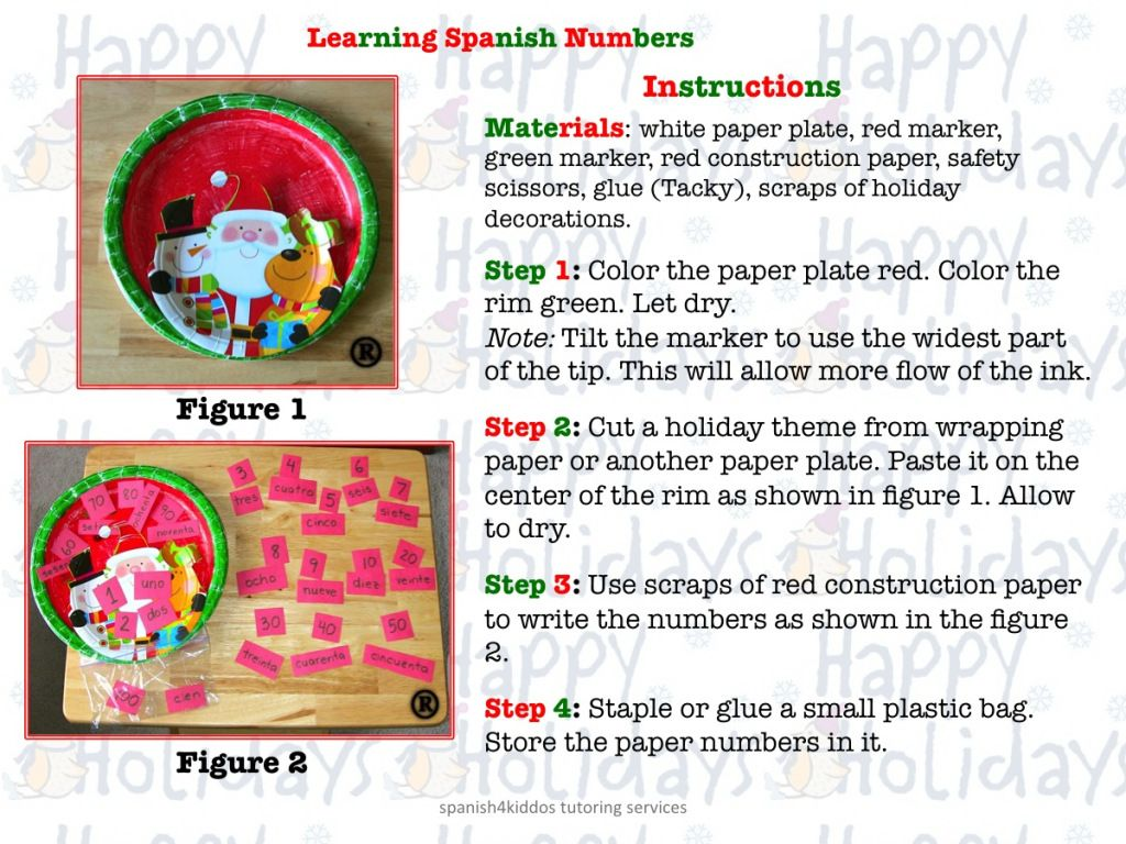 Learning Spanish Numbers