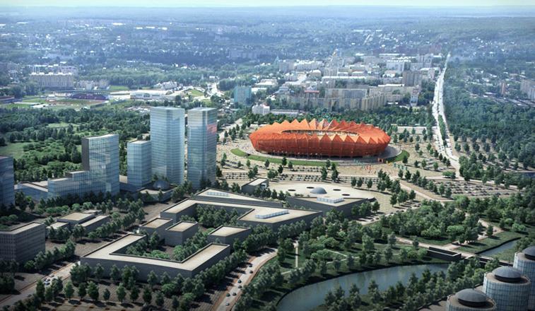 2018 FIFA World Cup Russia Stadia.  Saransk Stadium. Expected Capacity: 45,000.