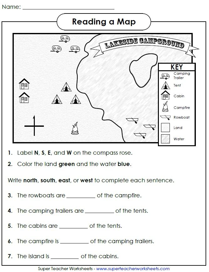 Check Out This Worksheet From Our Map Skills Page To Help Students - Cardinals points map us
