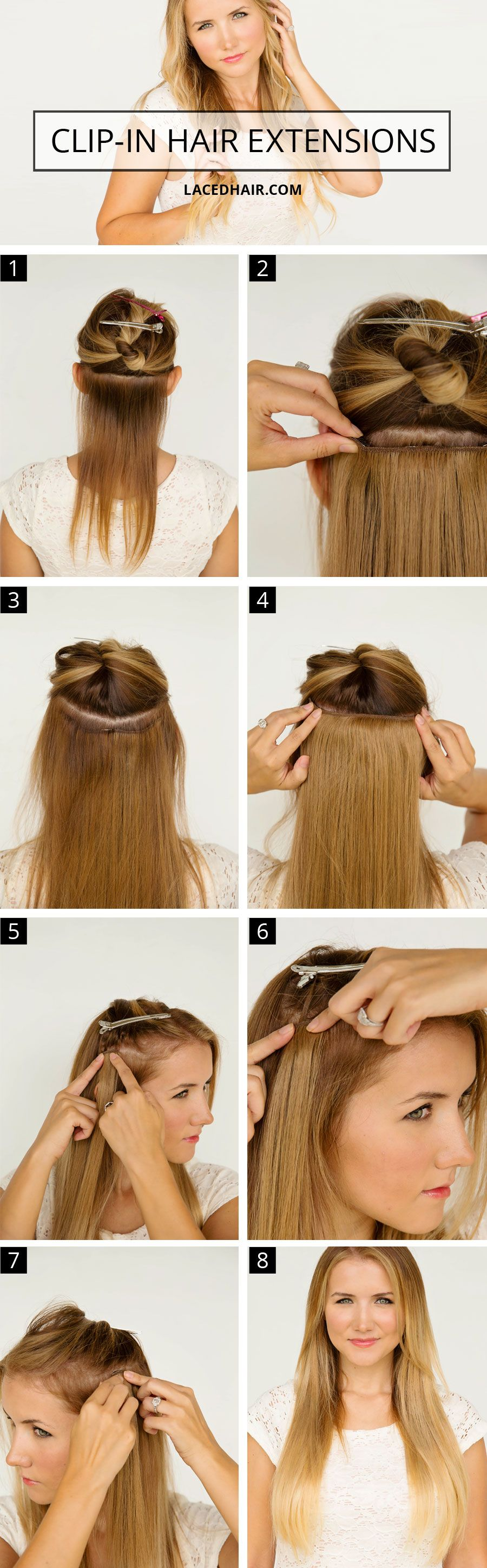 How To Wear Clip In Hair Extensions Diy Hair Extensions Hair Extensions For Short Hair Hair Extensions Tutorial