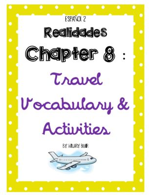 realidades level 2 8a 8b vocabulary notes packet from salvada