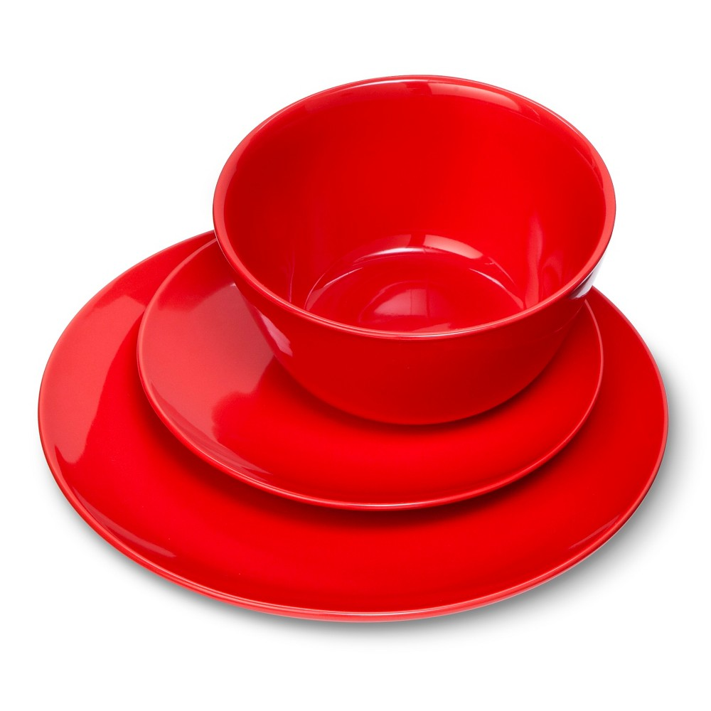 Coupe 12pc Dinnerware Set Red Room Essentials Red Dinnerware