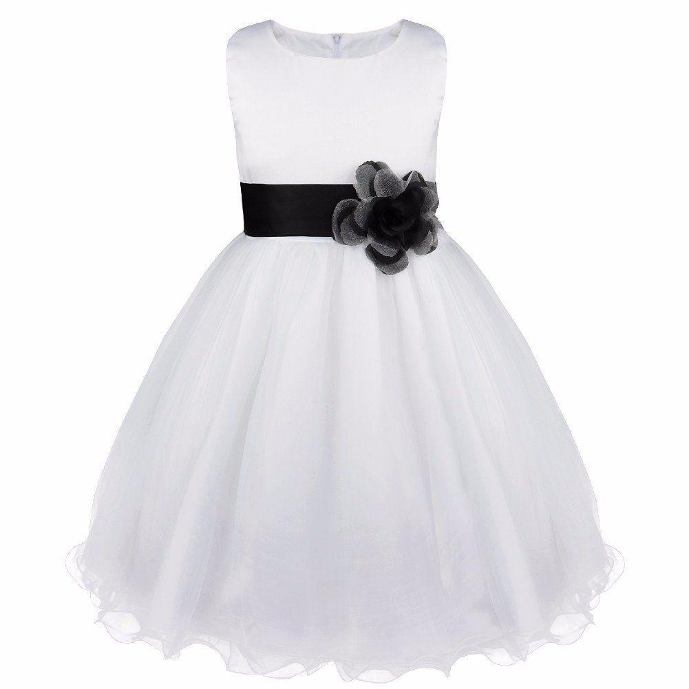 73be06313 iEFiEL Vestido Blanco de Princesa Fiestas Boda para Niñas Vestidos  Elegantes de Noche Azul Oscuro 10 Años  Amazon.es  Ropa y accesorios