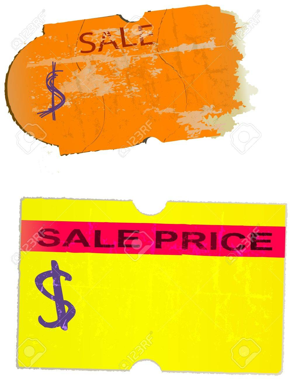 Price Stickers Adhesive Labels Vector Texture Graphic Design Price Sticker Sticker Design
