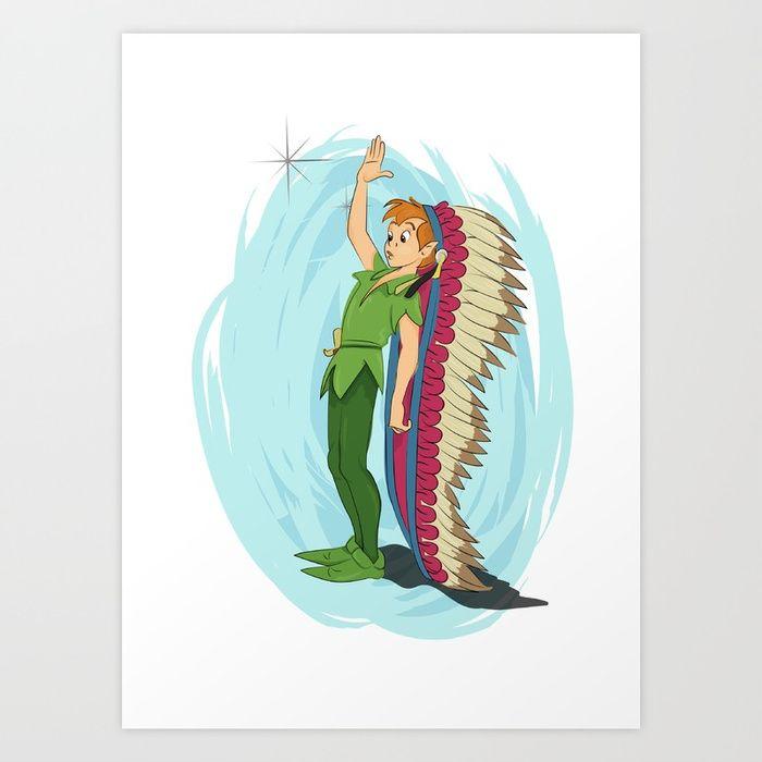 Buy Peter Pan Art Print by larissakathryn. Worldwide shipping ...