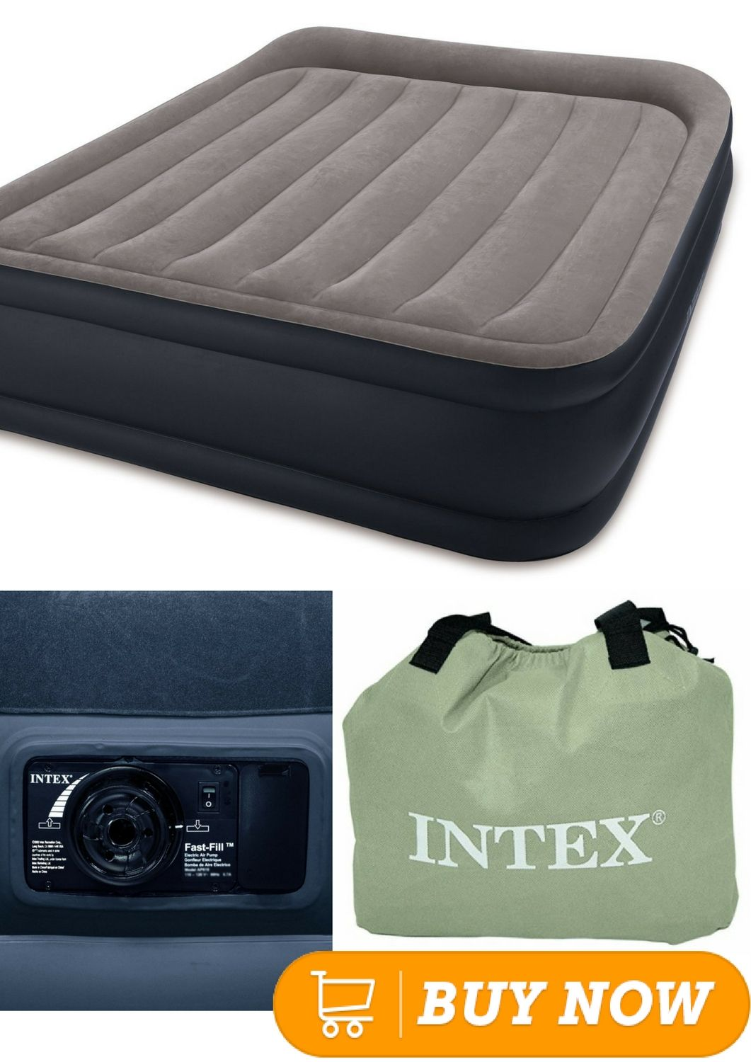 intex pillow rest raised airbed with