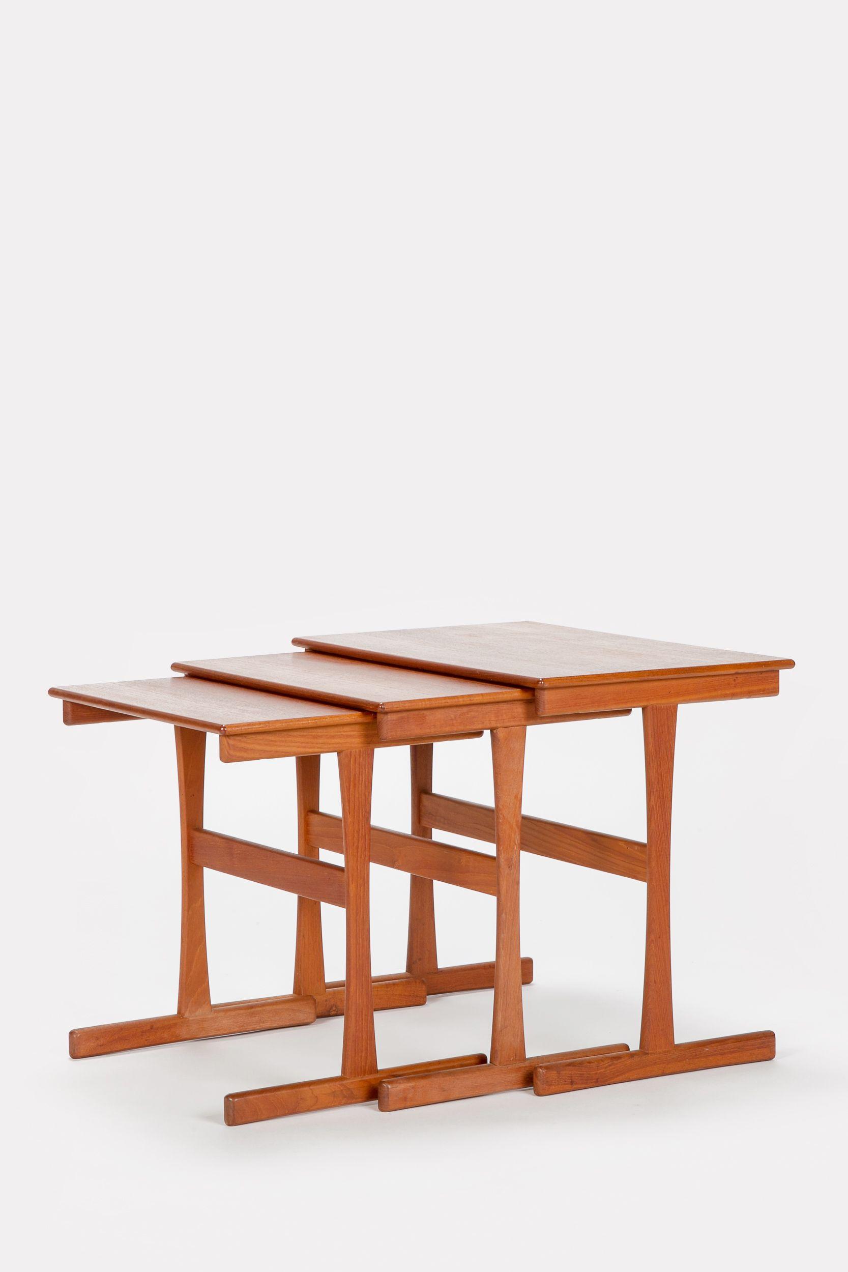 Teak Nesting Tables Kai Kristiansen 60 S Okay Art Nesting Tables Teak Table