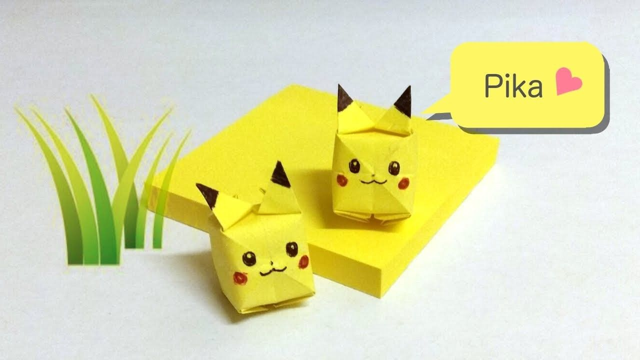 Photo of Pikachu Haftnotiz Origami