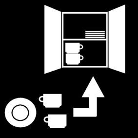 Pictogram: put away dishes