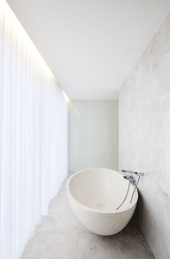 astounding calming modern minimalist bathroom white | Pin by Mag Si on Bath_love | Bathroom interior, Relaxing ...
