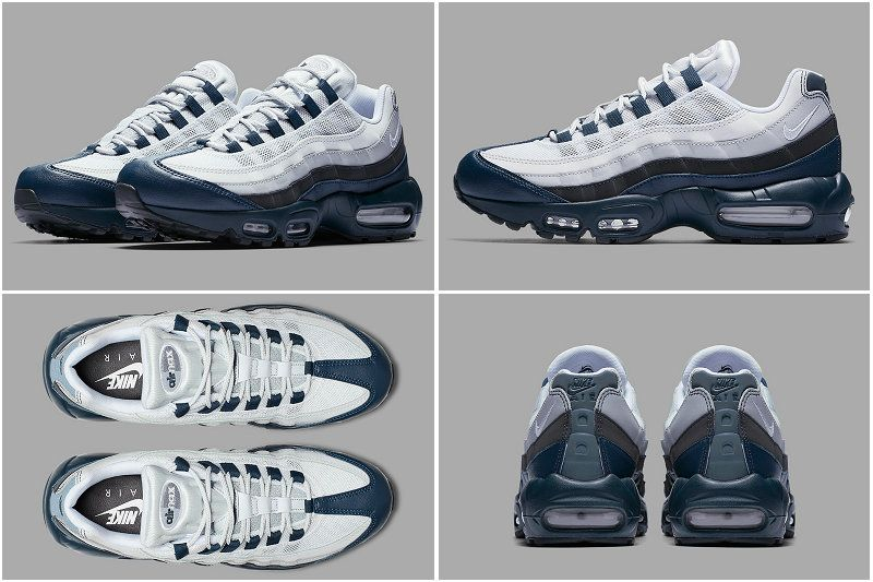 2017 Fall Winter New NIKE AIR MAX 95 YANKEES Armory Navy