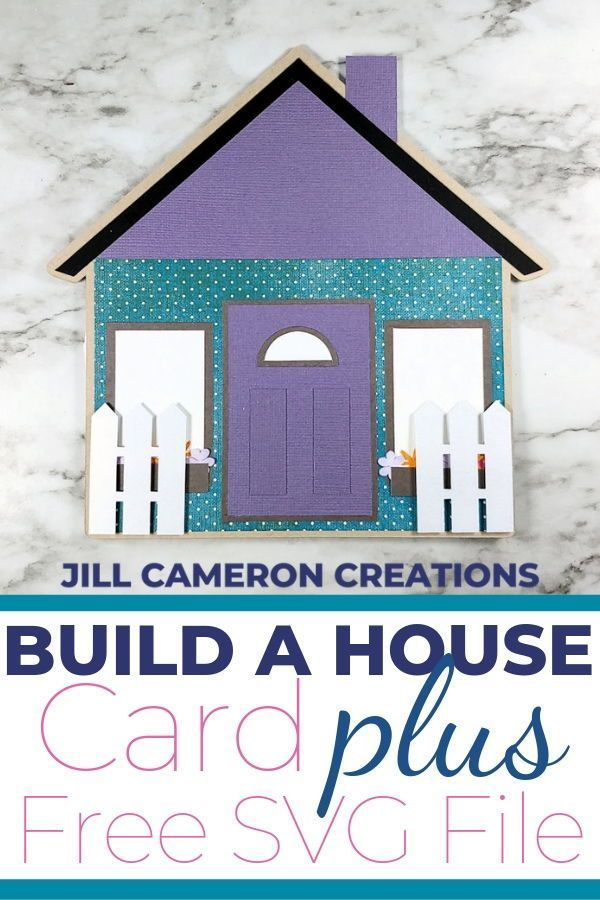 Download Build a House Card Plus SVG File to create your own! | New ...