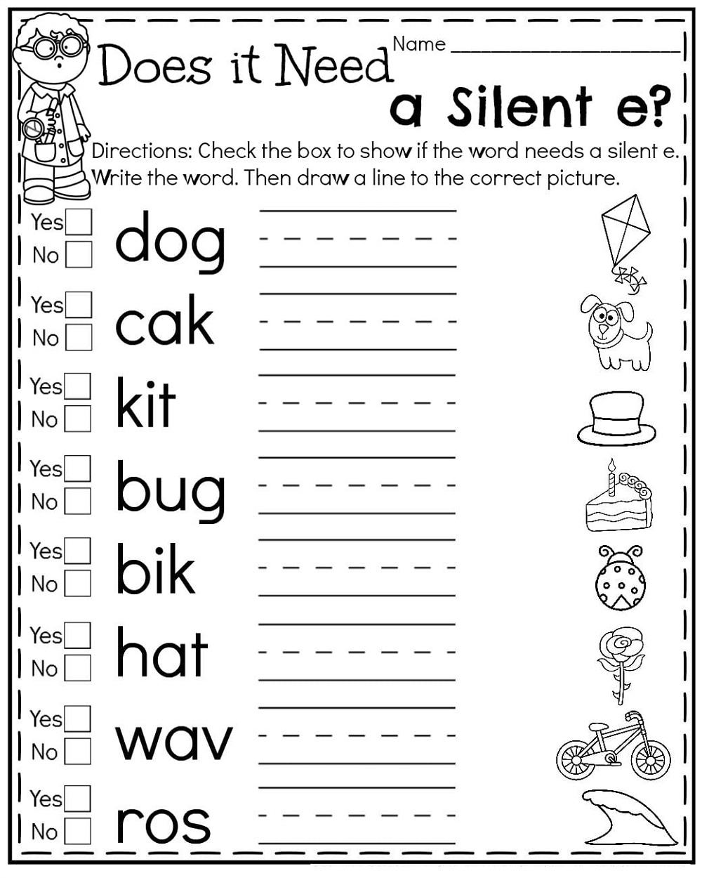 small resolution of 1st Grade Silent E Worksheets   K5 Worksheets   2nd grade worksheets