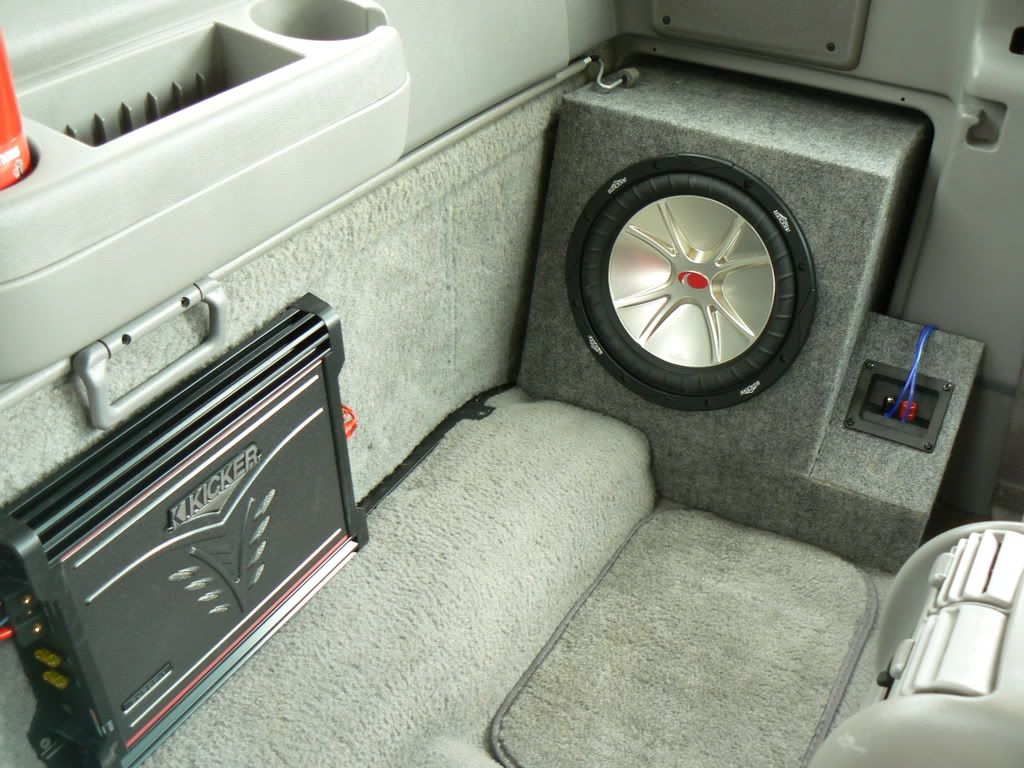 sub box in place of fold out jump seat ford ranger forum - 2002 Ford Ranger Interior