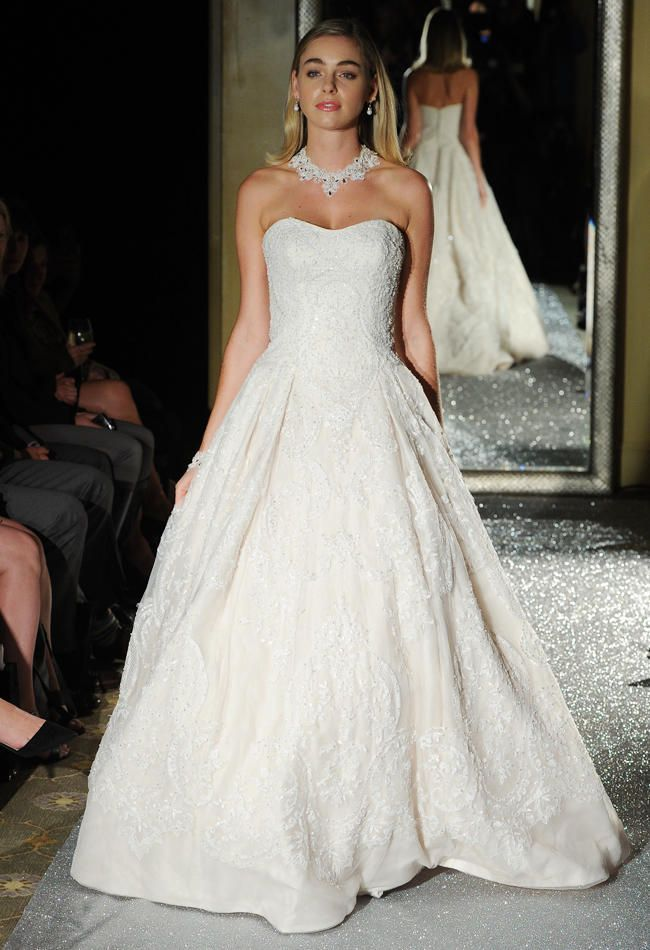 Oleg Cassini Wedding Dresses 2015 Showcases Detailed Floral Appliques For Fall