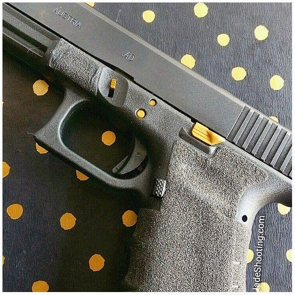 Titanium Gold 3 Pin Kit With Extended Slide Release For Glocks Jadeshooting Com Gold Pin Slide
