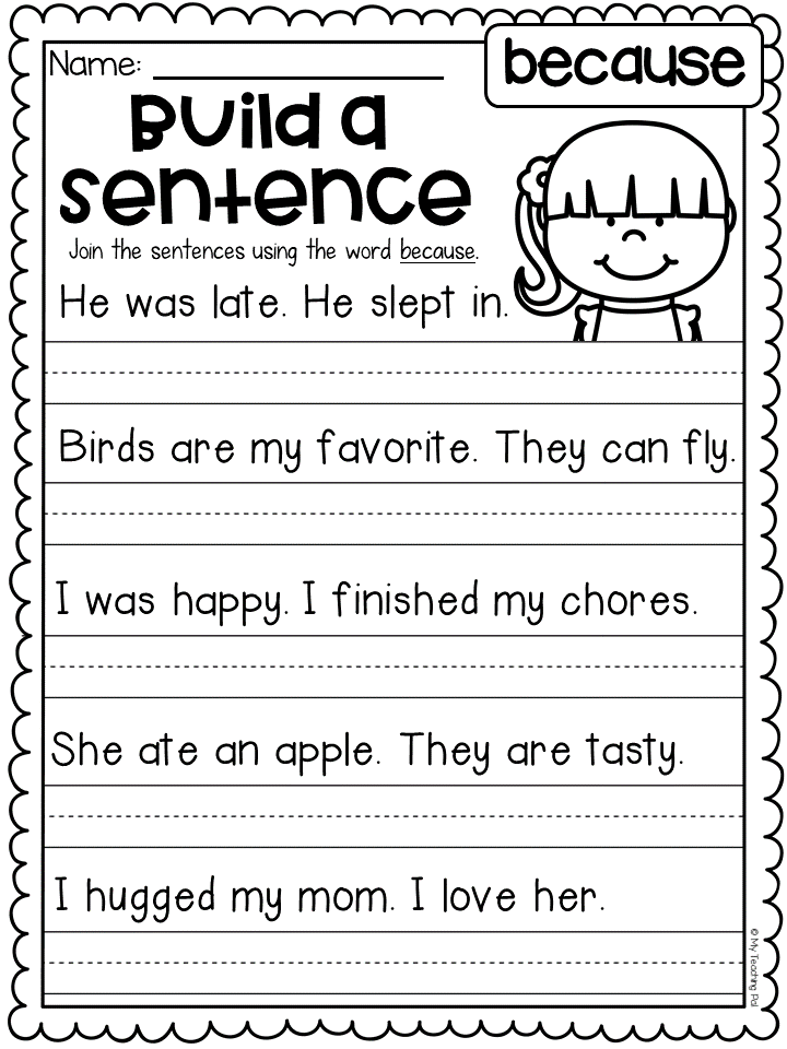 Grammar Worksheet Packet Sentences Punctuation Capitals Conjunctions More Writing Lessons First Grade Worksheets Grammar Worksheets