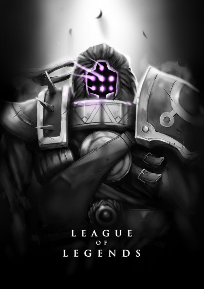 Jax by wacalac on deviantART Black and White LoL posters