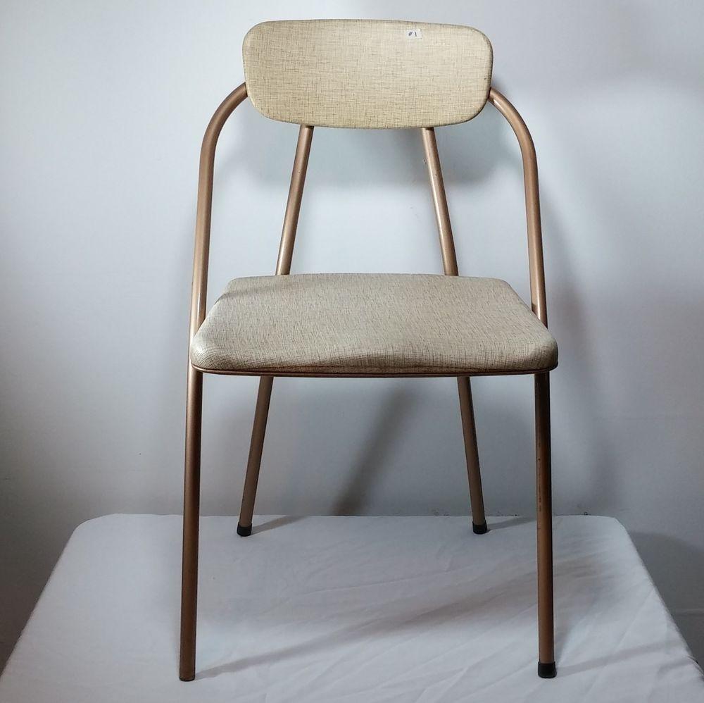 set of hamilton cosco vintage midcentury modern folding chairs  - set of hamilton cosco vintage midcentury modern folding chairs  goldtan