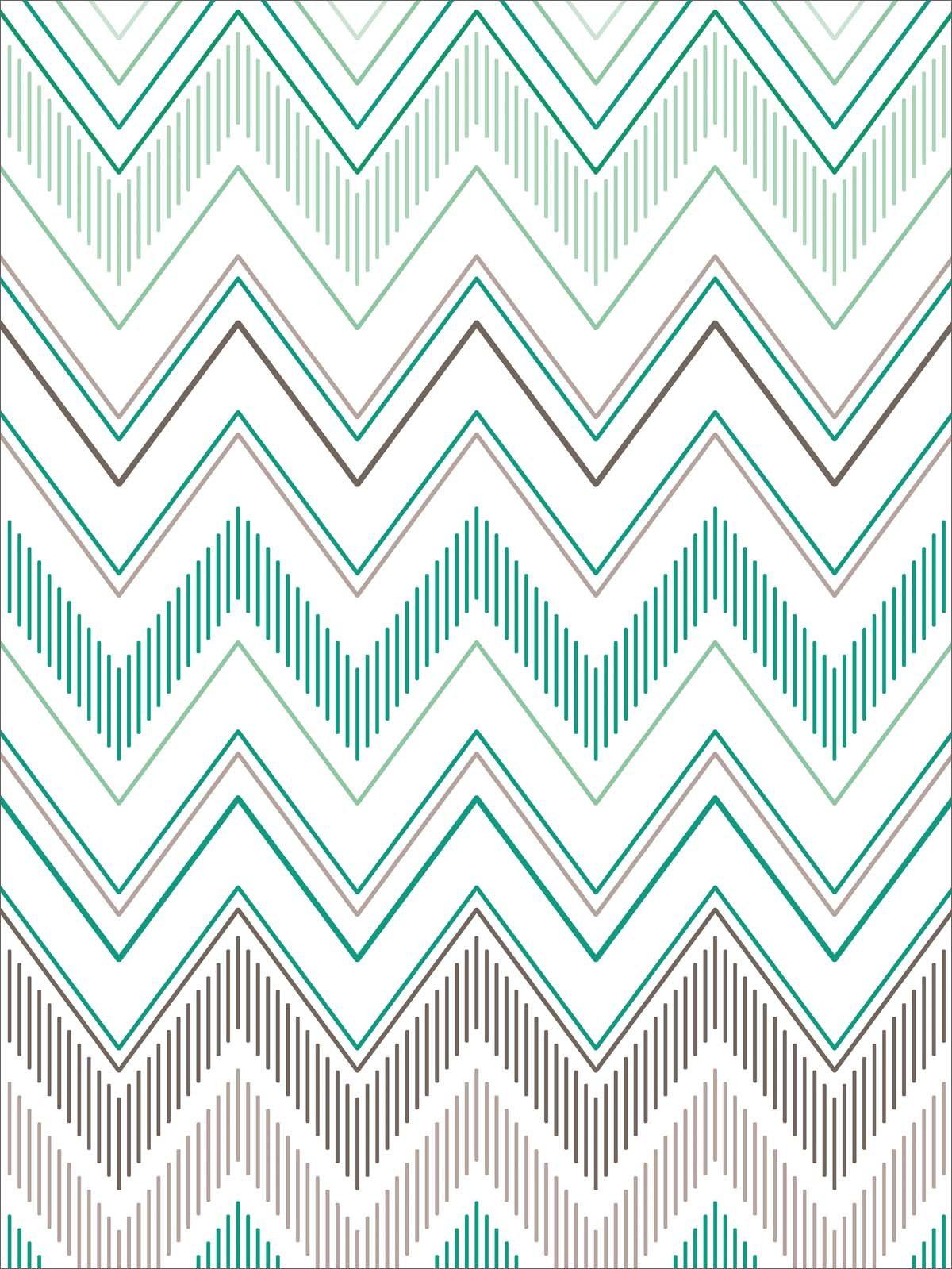 teal chevron Chevron pattern wallpaper, Print patterns
