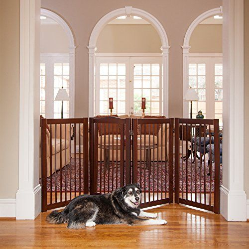 Pripm Primetime Petz 360es Configurable Gate With Door 36 Find Out More At The Image Link Dogdoorsgatesramp Wooden Pet Gate Pet Gate Pet Gate With Door