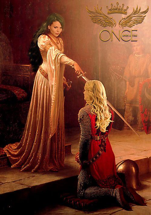 Swan Queen once upon a time jennifer morrison lana parrilla ouat Emma Swan  Evil Queen Regina Mills   fanart