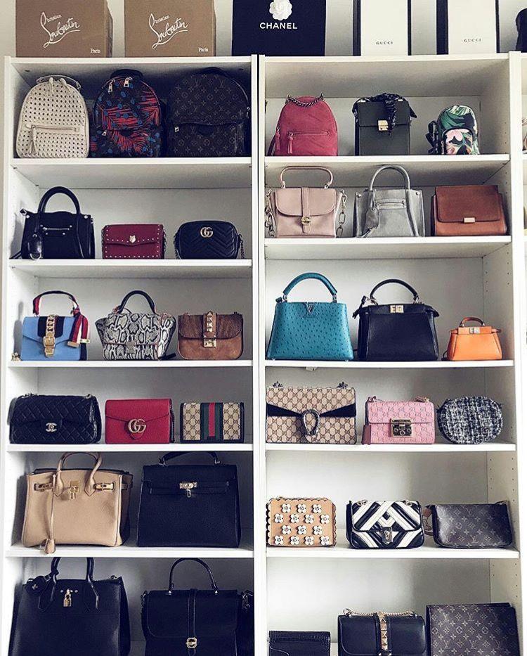 Bookcases Bag Closet Handbag Storage
