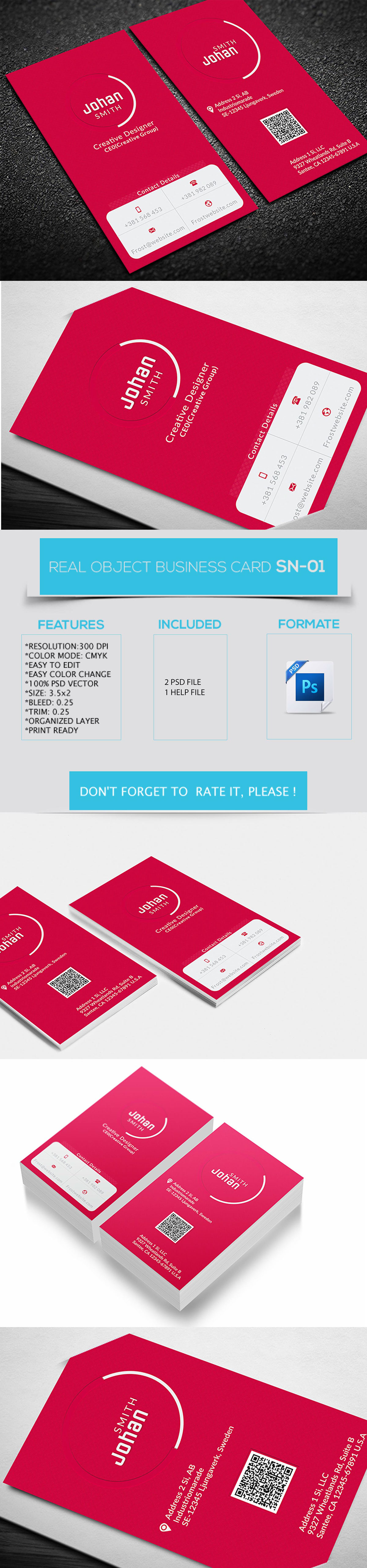 Creative Business Card Free Download on Behance = more at