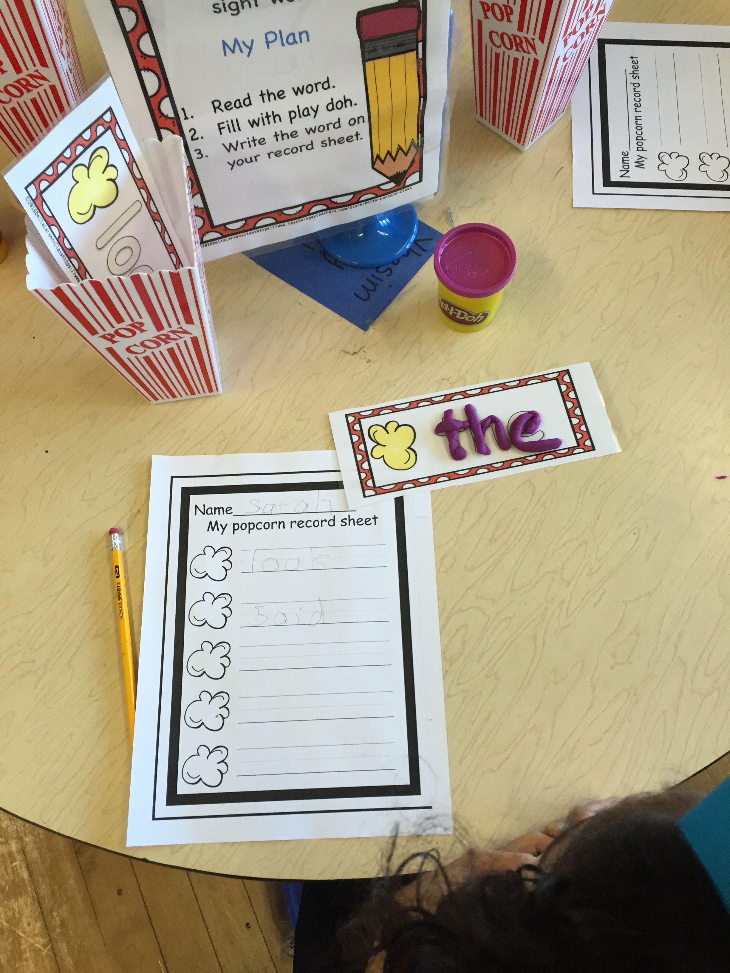 Literacy Center Word Work Activity For Kindergarten And