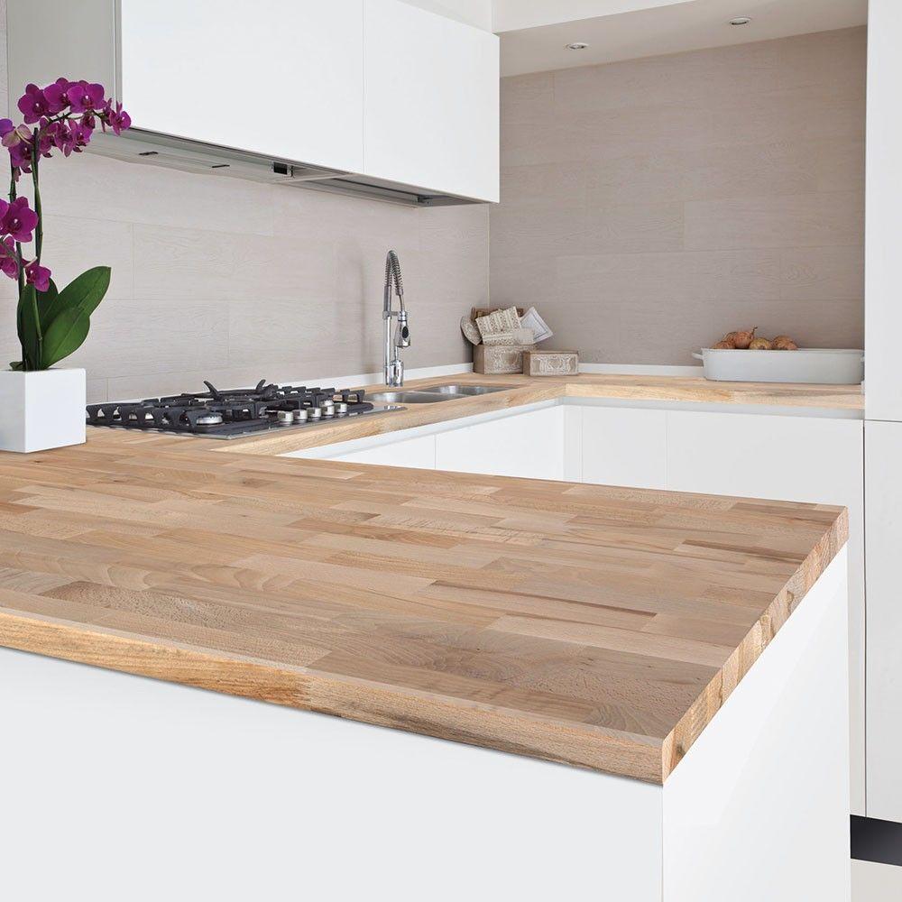 Massivholz Arbeitsplatte Buche 2400x600x27mm   Küchen Design ...