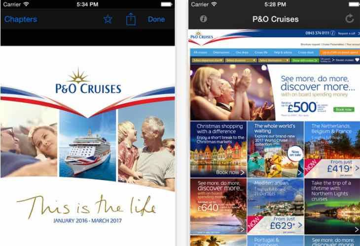 p&o cruises brochure