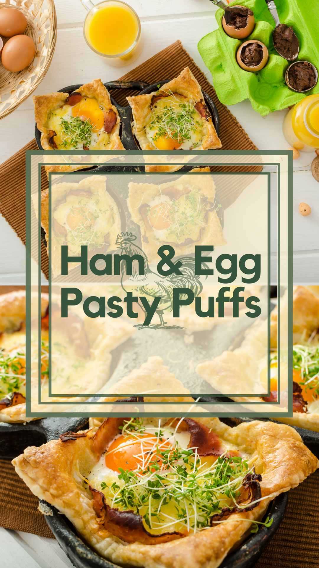 Ham, Egg and Cheese Puff Pastry Breakfast / Brunch Recipe