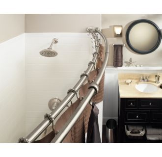 Moen Dn2141 In 2020 Shower Rod Double Shower Curtain Shower