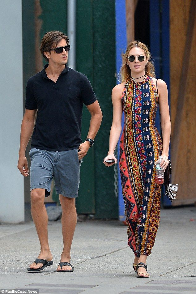 Model stars  The blonde bombshell stepped out with her boyfriend Hermann  Nicoli for a leisurely stroll in New York City this week e47fde26b