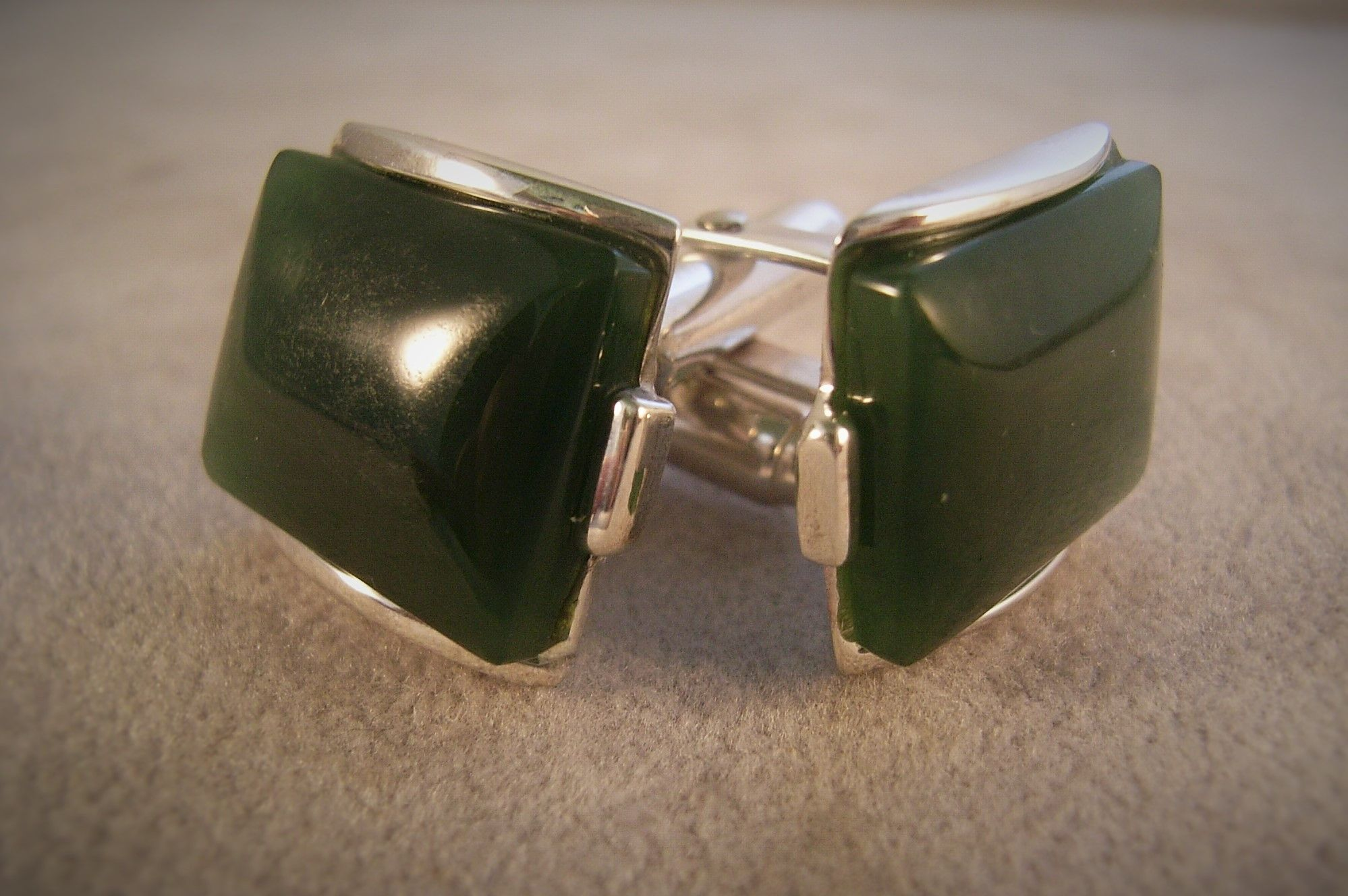 Sterling Silver & jade cufflinks, Men's accessory, New zealand jade, men's fashion, qualified jeweller, made to order.Contact us www.tpgoldsmiths.co.nz