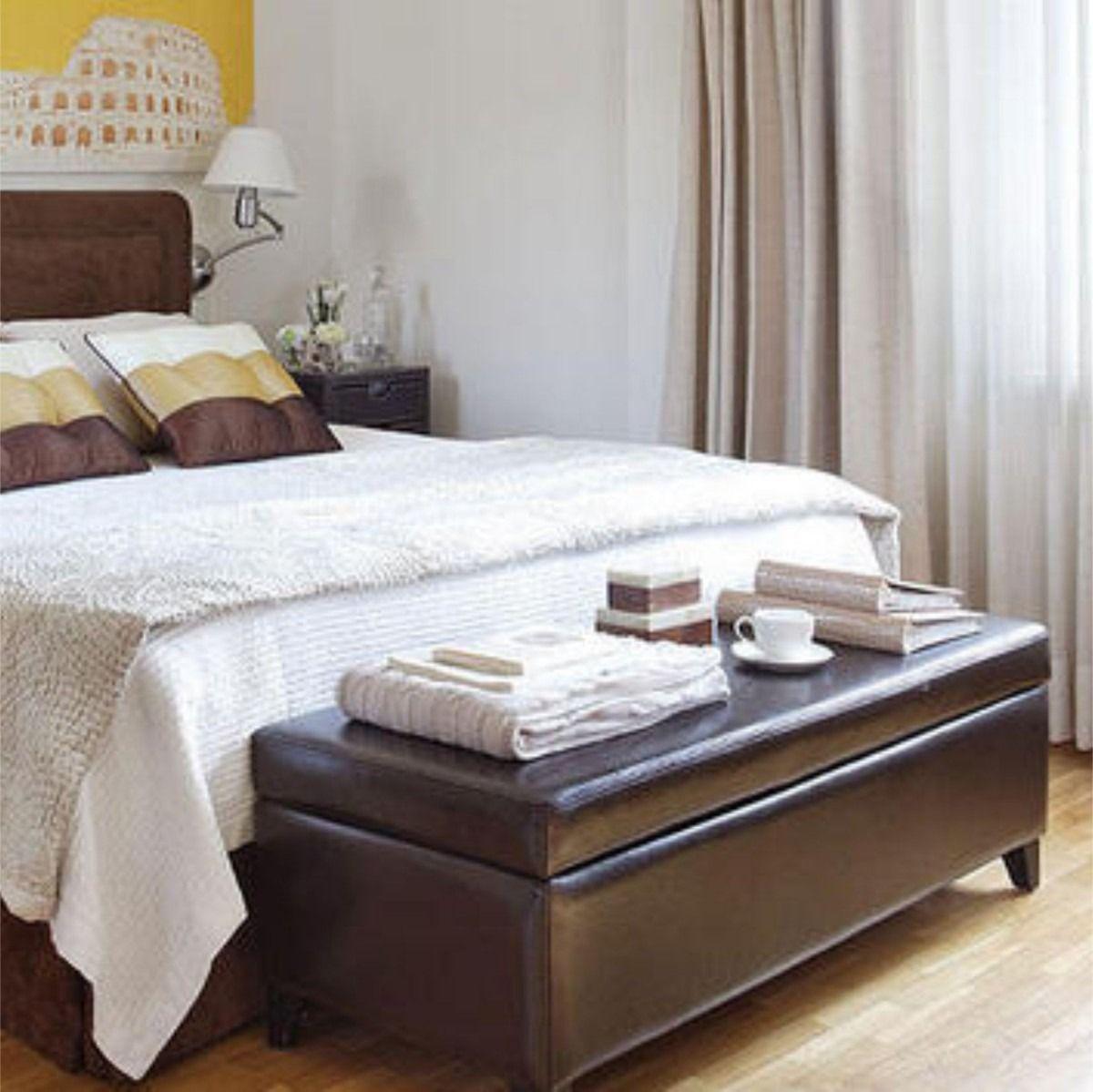 Pie de cama sommier ba l banqueta zapatero 1 2 m diqua for Cama zapatero