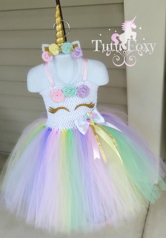 a3d839cd6f4 Unicorn Tutu Dress