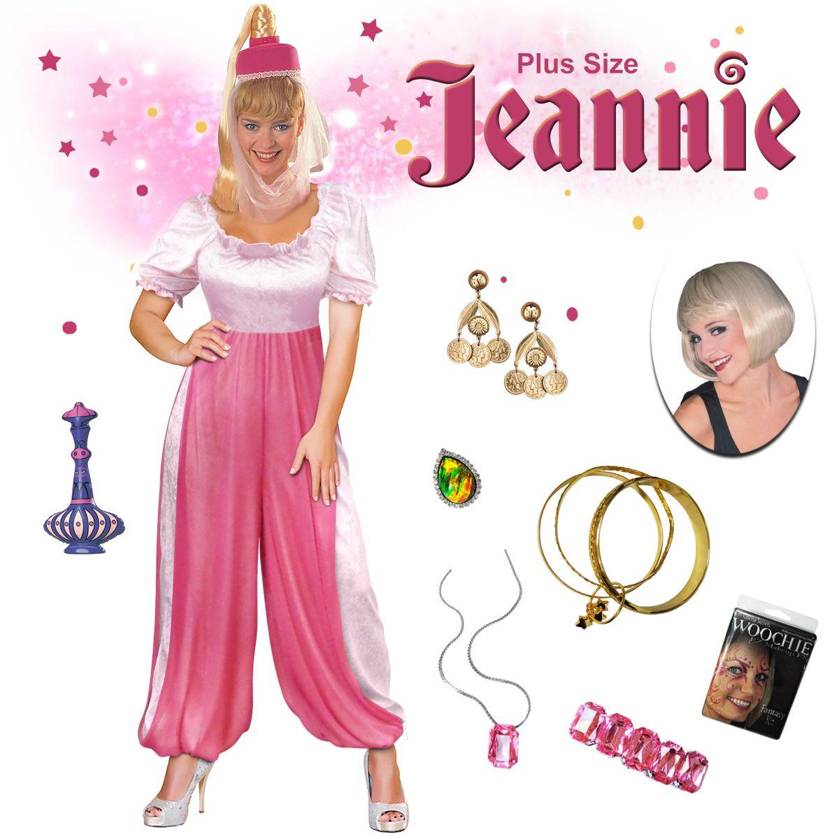 Jeannie the Genie Plus Size Supersize Halloween Costume Lg