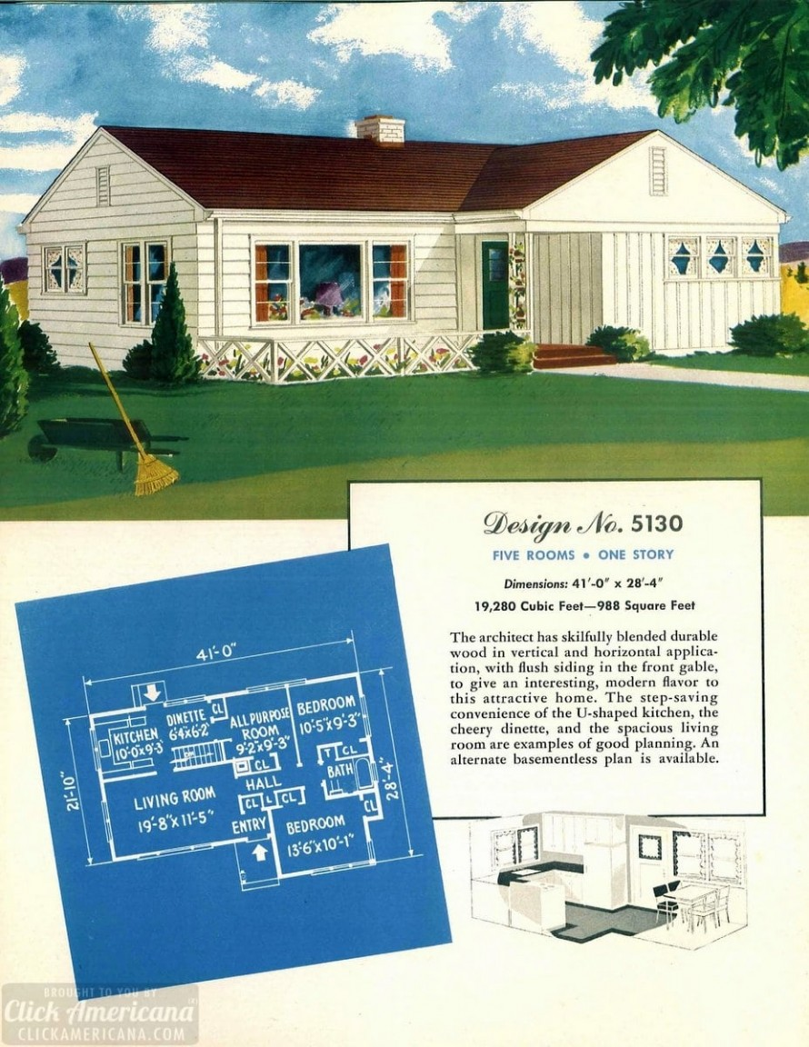 130 vintage '50s house plans used to build millions of mid ...